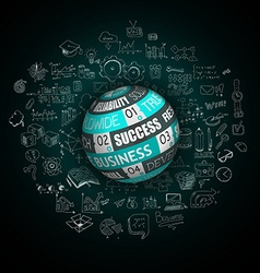 Success in business conceptual background vector