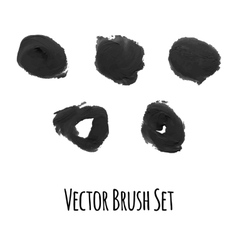 Set of brushes and traced elements vector