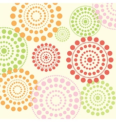 Dotted circles vector