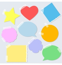 Torn paper stickers vector