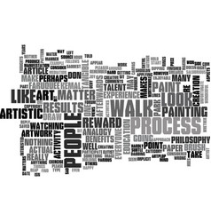 Art is for everyone text word cloud concept vector