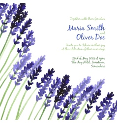Background with violet watercolor lavender vector