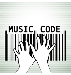 Barcode as music vector