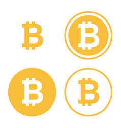 bitcoin icon set vector image vector image