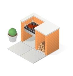 Brick BBQ grill vector image