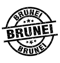 Brunei black round grunge stamp vector