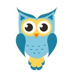 Cartoon blue owl icon vector