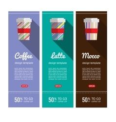 Coffee flyers set in flat design vector