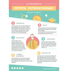 cv creative infographic template vector image