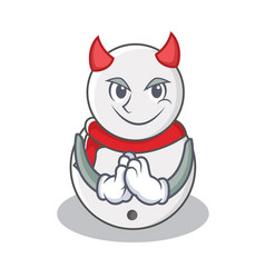 Devil snowman character cartoon style vector