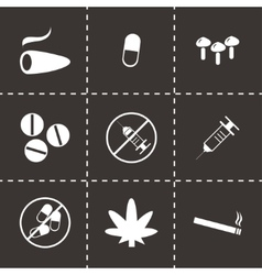 download icons set vector image vector image
