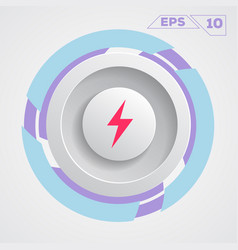 energy circle icon vector image