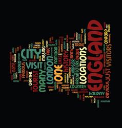 England s hidden gems text background word cloud vector
