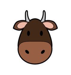 face of cow or bull icon image vector image