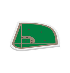 field of play baseball isometric vector image
