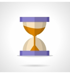Flat color hourglass with sand icon vector