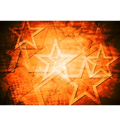 Grunge stars background vector image vector image