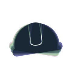 Hardhat sign colorful icon shaked with vector