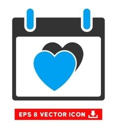 Hearts calendar day eps icon vector