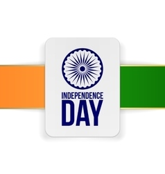 India independence day holiday card template vector