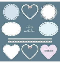 Lacy doilies vector