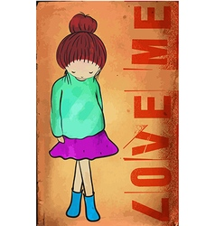 loveme vector image vector image