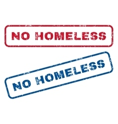 No homeless rubber stamps vector