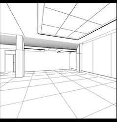 Outline office room eps 10 format vector