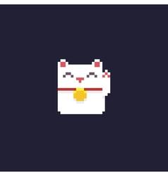 Pixel maneki neko vector