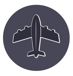 plane icon top view vector image