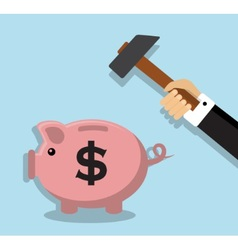 Removing accumulated money vector image