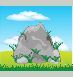 stone on nature vector image vector image