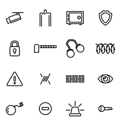 thin line icons - security vector image vector image