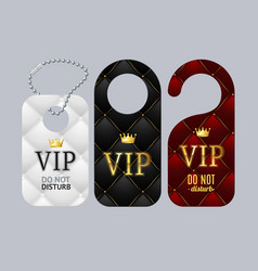 Vip door labels set do not disturb vector
