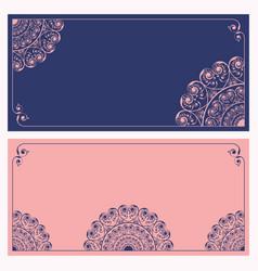 wedding invitation card design vector image vector image