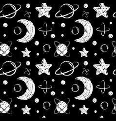 with cartoon handdrawn star vector image