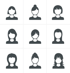 Woman Icons Set Design vector image vector image