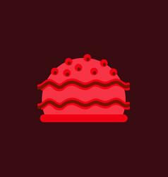 Delicious cake flat icon vector