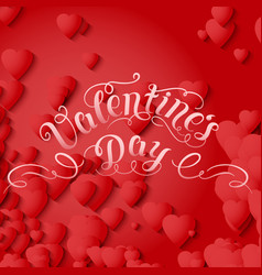 Valentines day card elegant vector