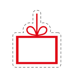 card christmas hang decoration vector image