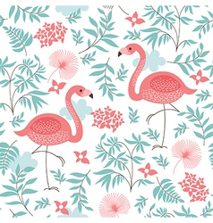 seamless pattern with a flamingo vector image