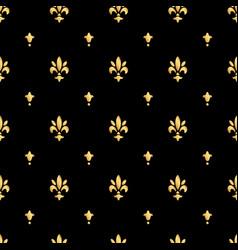 Golden fleur-de-lis seamless pattern gold vector