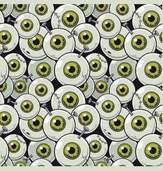 Seamless pattern eyeball vector