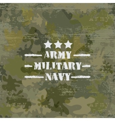 Military seamless background with text vector image