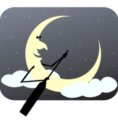 Rowing moon vector
