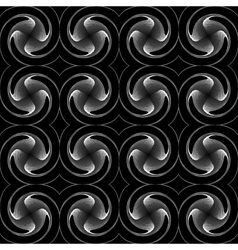 Design seamless monochrome twirl background vector
