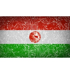 Flags niger with broken glass texture vector