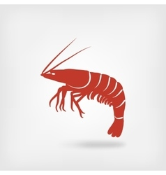Shrimp seafood logo vector