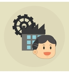 Flat about businesspeople design vector