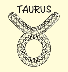 Taurus sign zodiac hand drawn sketch vector